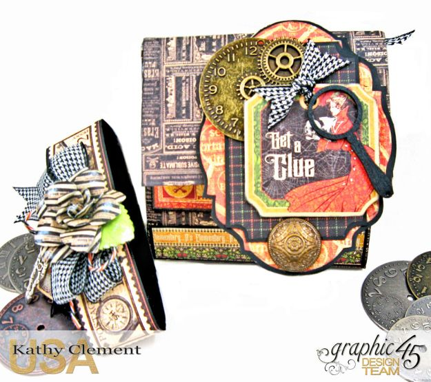 Graphic 45 Master Detective Photo Wallet Tutorial Master Detective by Kathy Clement Product by Graphic 45 Photo 3