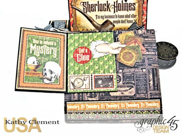 Graphic 45 Master Detective Photo Wallet Tutorial Master Detective by Kathy Clement Product by Graphic 45 Photo 5