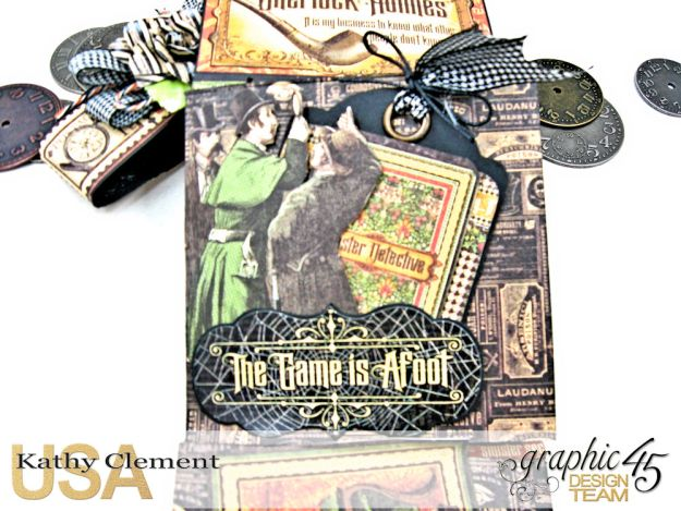 Graphic 45 Master Detective Photo Wallet Tutorial Master Detective by Kathy Clement Product by Graphic 45 Photo 9
