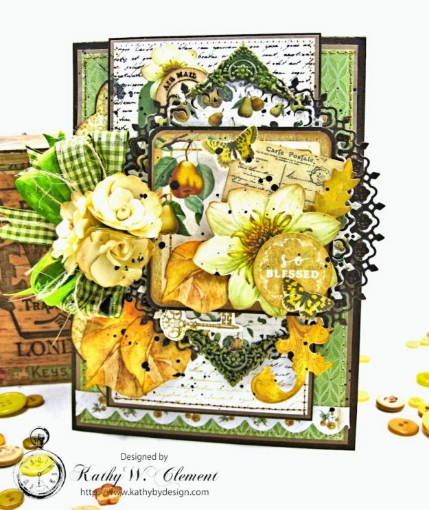 Golden Grove Botanical Card Folio by Kathy Clement for Really Reasonable Ribbon Photo 1