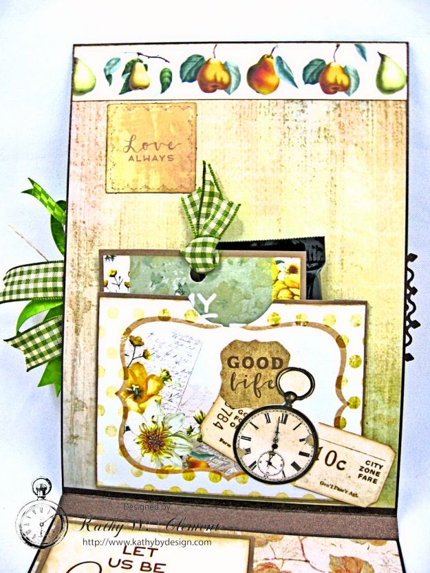 Golden Grove Botanical Card Folio by Kathy Clement for Really Reasonable Ribbon Photo 5