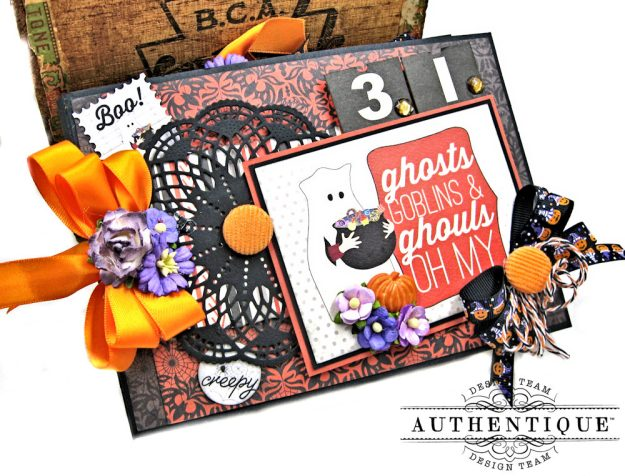 Authentique Bewitched Halloween Card Folio by Kathy Clement Photo 2