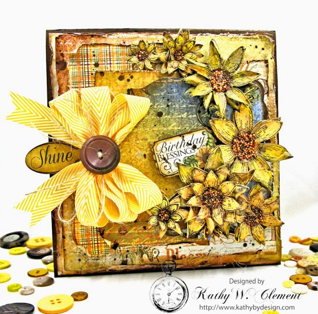 Heartfelt Creations Classic Sunflower Birthday Card Folio by Kathy Clement Photo 1
