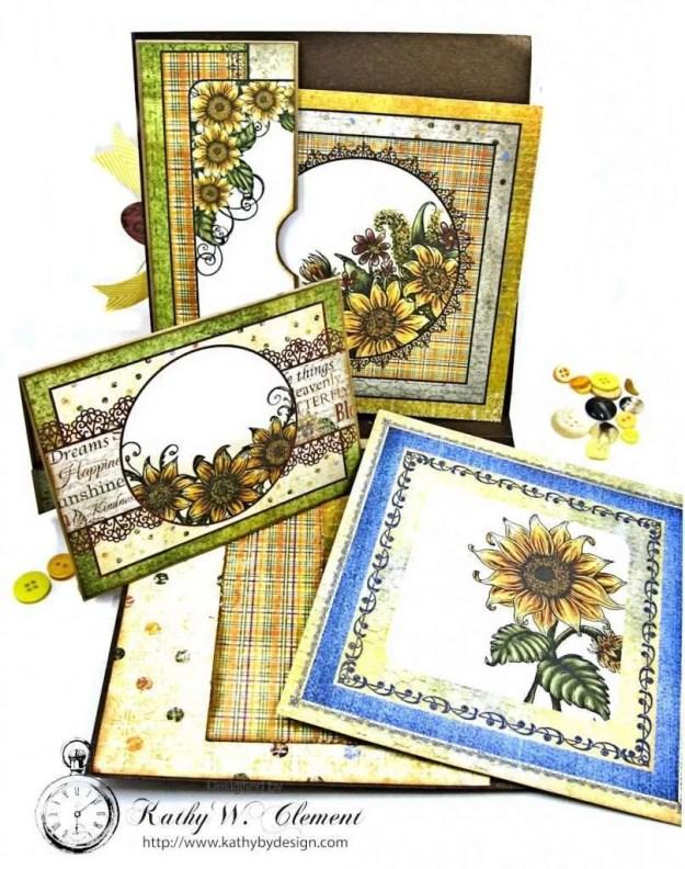 Heartfelt Creations Classic Sunflower Birthday Card Folio by Kathy Clement Photo 5