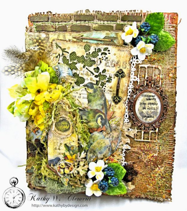 Home Sweet Forest Home Mixed Media Canvas by Kathy Clement for Frilly and Funkie Photo 1