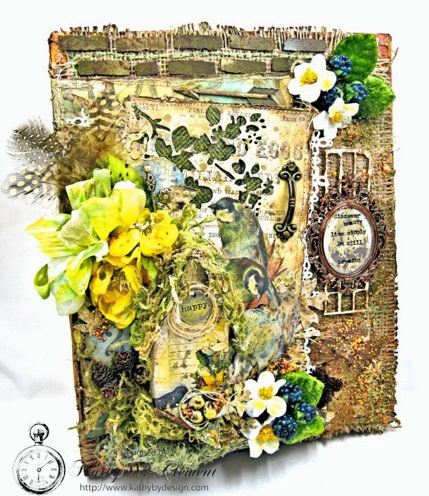 Home Sweet Forest Home Mixed Media Canvas by Kathy Clement for Frilly and Funkie Photo 2