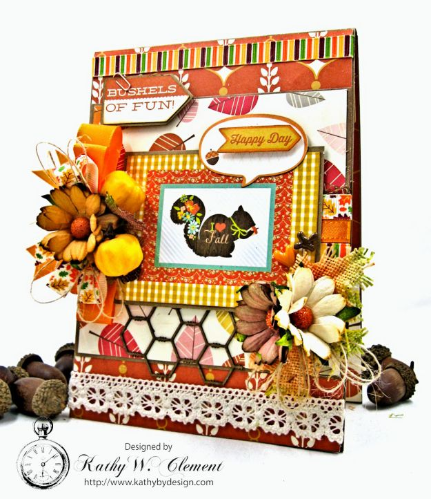 Autumn Love All Occasion Greeting Card by Kathy Clement for Really Reasonable Ribbon Photo  2