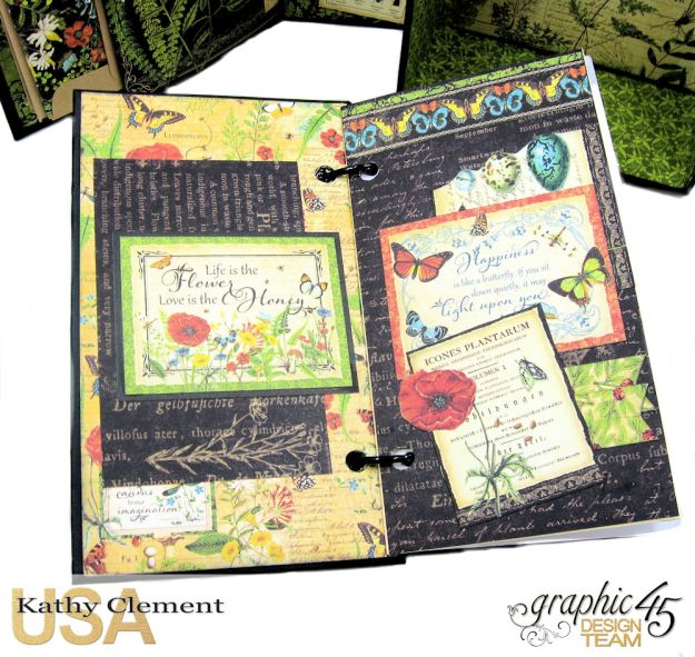 Nature Sketchbook Correspondence Kit Nature Sketchbook by Kathy Clement Product by Graphic 45 Photo 11