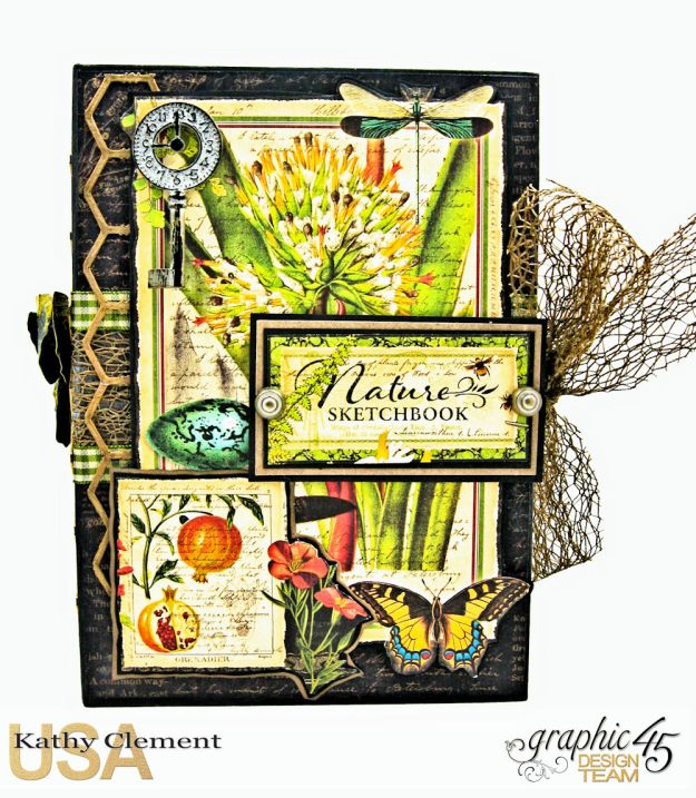 Nature Sketchbook Correspondence Kit Nature Sketchbook by Kathy Clement Product by Graphic 45 Photo 2