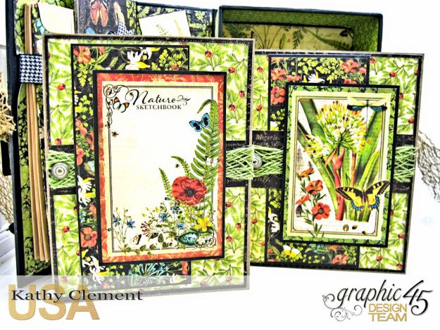 Nature Sketchbook Correspondence Kit Nature Sketchbook by Kathy Clement Product by Graphic 45 Photo 8
