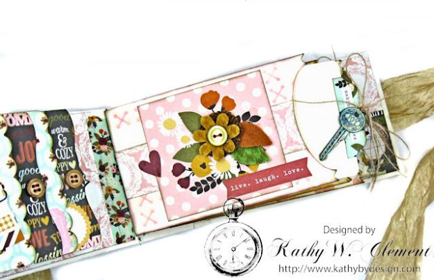 Grateful Paper Bag Envelope Mini Album by Kathy Clement Product by Tammy Tutterow Designs Photo 7