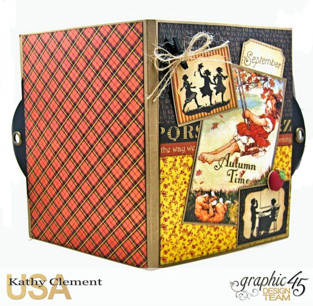 @SimplyG45 Autumn Time 45 minute folio video tutorial A Place in Time ABC Primer by Kathy Clement Product by Graphic 45 Photo 11