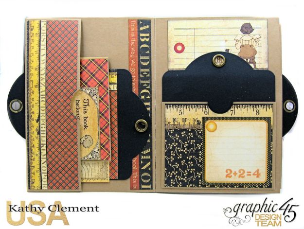 @SimplyG45 Autumn Time 45 minute folio video tutorial A Place in Time ABC Primer by Kathy Clement Product by Graphic 45 Photo 3