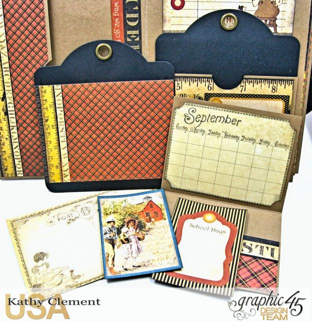 @SimplyG45 Autumn Time 45 minute folio video tutorial A Place in Time ABC Primer by Kathy Clement Product by Graphic 45 Photo 5