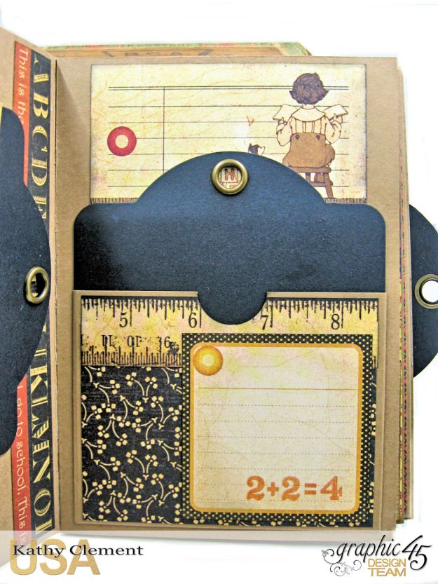 @SimplyG45 Autumn Time 45 minute folio video tutorial A Place in Time ABC Primer by Kathy Clement Product by Graphic 45 Photo 6
