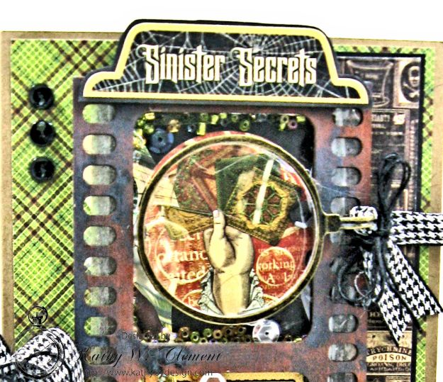 Sinister Secrets Master Detective Shaker Card Tutorial by Kathy Clement for Really Reasonable Ribbon Photo 4