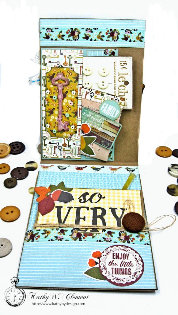 Together Card Folio Vintage Blessings by Kathy Clement for Really Reasonable Ribbon Product by Simple Stories Photo 5