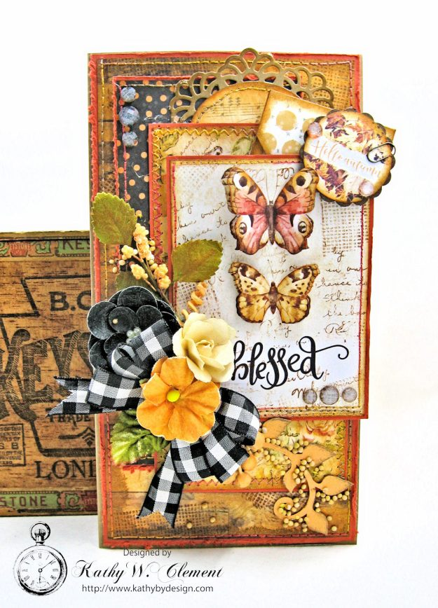 Amber Moon Blessed Birthday Greeting Card by Kathy Clement Photo 1