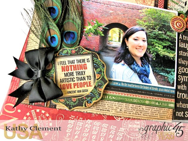 Ciao Bella Layout Tutorial Typography by Kathy Clement Product by Graphic 45 Photo 8