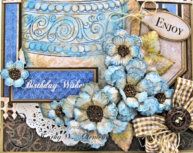 Coffee Talk Birthday Card Folio by Kathy Clement September HC Alumni Blog Hop Photo 3