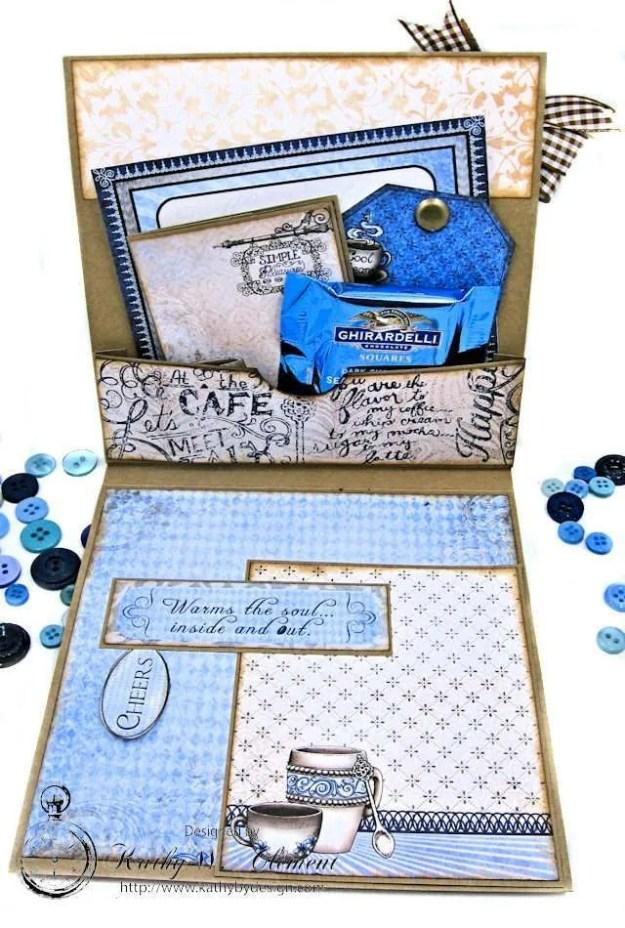 Coffee Talk Birthday Card Folio by Kathy Clement September HC Alumni Blog Hop Photo 4