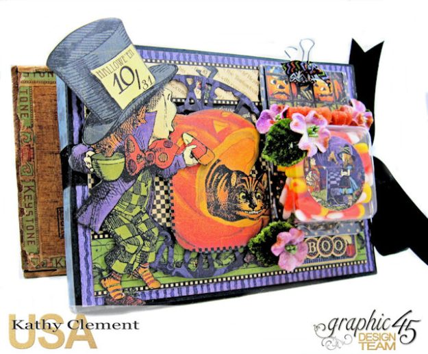 Halloween in Wonderland Candy Corn Folio Halloween in Wonderland by Kathy Clement Product by Graphic 45 Photo 1