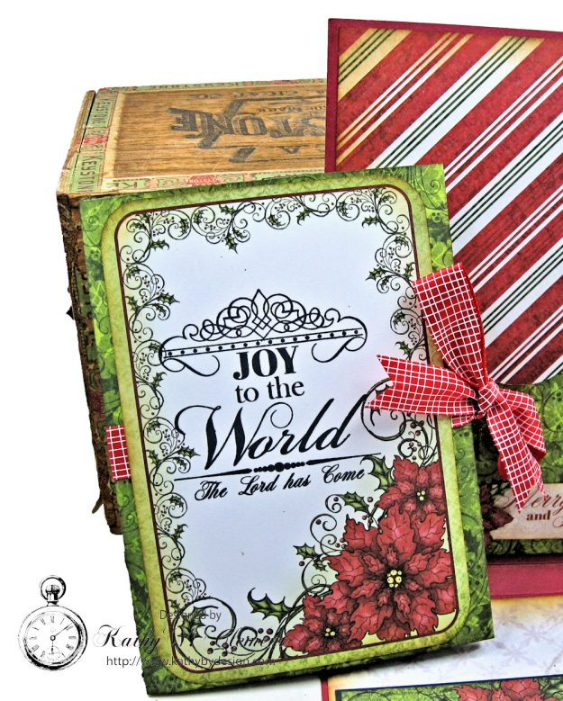 Christmas Joy Card Folio Sparkling Poinsettia by Kathy Clement Product by Heartfelt Creations Photo 6
