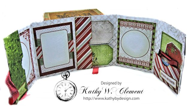 Christmas Joy Card Folio Sparkling Poinsettia by Kathy Clement Product by Heartfelt Creations Photo 7