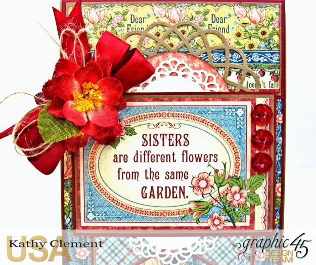 Flowers from the Same Garden Pocket Card Penny's Paper Doll Family by Kathy Clement Product by Graphic 45 Photo 2