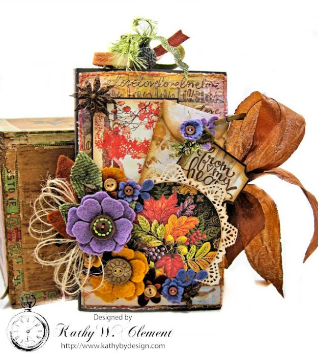 Prima Amber Moon Thankful Heart Folio by Kathy Clement for Tammy Tutterow Designs Product by Spellbinders Photo 1