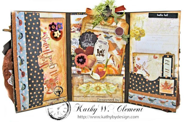 Prima Amber Moon Thankful Heart Folio by Kathy Clement for Tammy Tutterow Designs Product by Spellbinders Photo 10