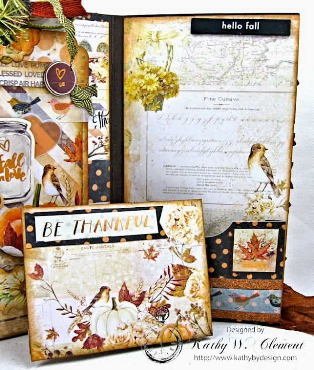 Prima Amber Moon Thankful Heart Folio by Kathy Clement for Tammy Tutterow Designs Product by Spellbinders Photo 12