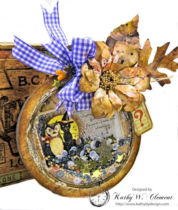 You've Been Booed Halloween Shaker Box by Kathy Clement for Frilly and Funkie Challenge Photo 1