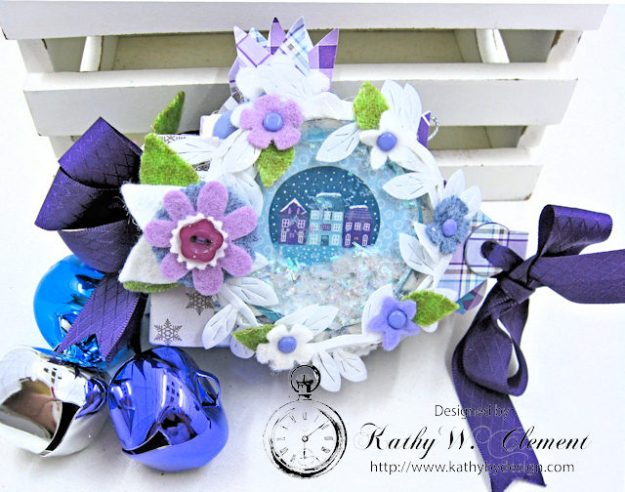 Frosty Winter Mini Tag Album Tutorial by Kathy Clement for Tammy Tutterow Designs Product by Spellbinders and Authentique Photo 1