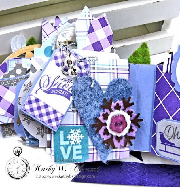 Frosty Winter Mini Tag Album Tutorial by Kathy Clement for Tammy Tutterow Designs Product by Spellbinders and Authentique Photo 13