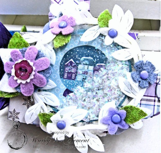 Frosty Winter Mini Tag Album Tutorial by Kathy Clement for Tammy Tutterow Designs Product by Spellbinders and Authentique Photo 3
