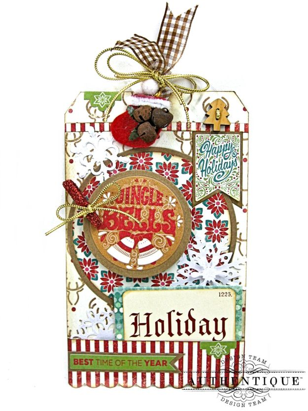 Jingle All the Way Christmas Card Folio Colorful Christmas by Kathy Clement Product by Authentique Photo 11