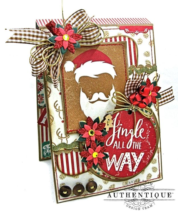 Jingle All the Way Christmas Card Folio Colorful Christmas by Kathy Clement Product by Authentique Photo 2