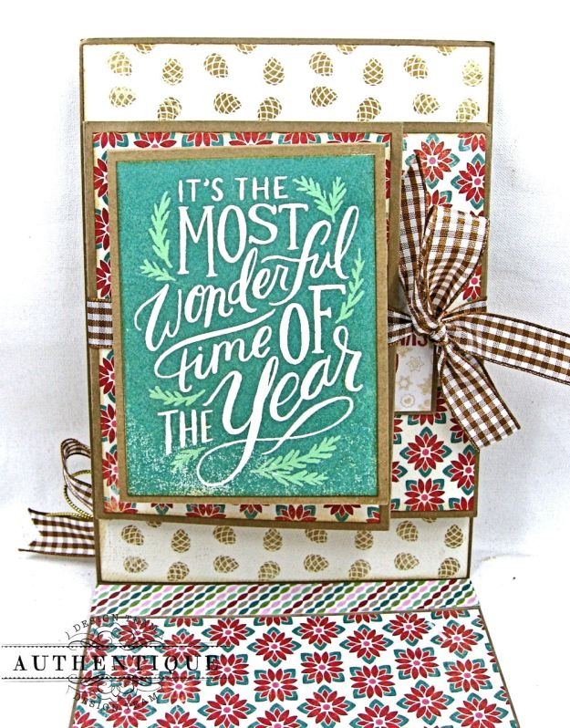 Jingle All the Way Christmas Card Folio Colorful Christmas by Kathy Clement Product by Authentique Photo 5