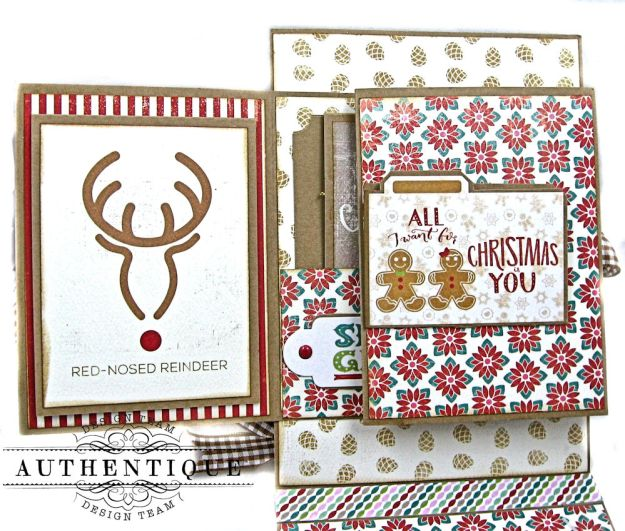 Jingle All the Way Christmas Card Folio Colorful Christmas by Kathy Clement Product by Authentique Photo 7