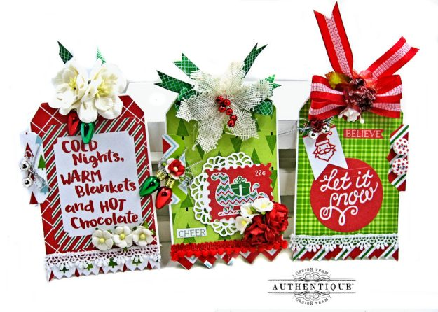Authentique Jolly Christmas Gift Tags by Kathy Clement Photo
