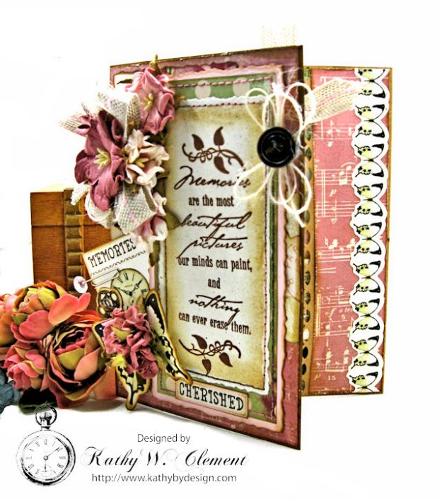 Memories Shabby Chic Sympathy Card by Kathy Clement for Really Reasonable Ribbon Photo 2