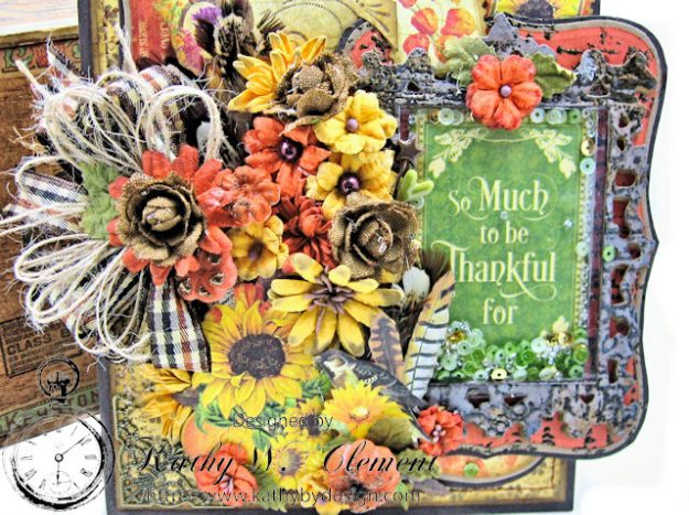 Thankful Season Card Folio Seasons by Kathy Clement for Frilly and Funkie Give Thanks Challenge Product by Graphic 45 Photo 4
