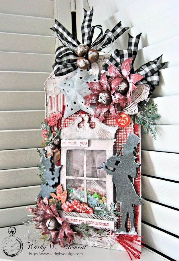 White Christmas Etcetera Shaker Tag by Kathy Clement for Frilly and Funkie Challenge Blog Photo 6