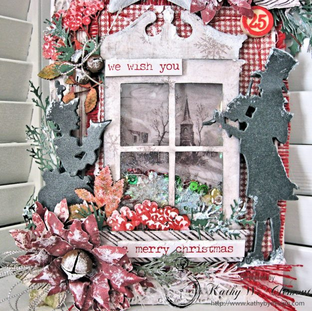 White Christmas Etcetera Shaker Tag by Kathy Clement for Frilly and Funkie Challenge Blog Photo 3