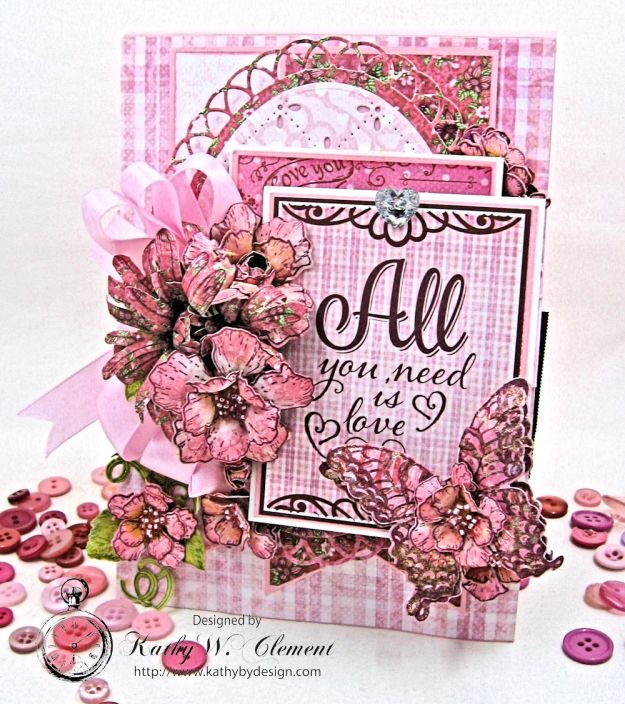 All You Need is Love Valentine and Tag Heartfelt Love by Kathy Clement Product by Heartfelt Creations Photo 1