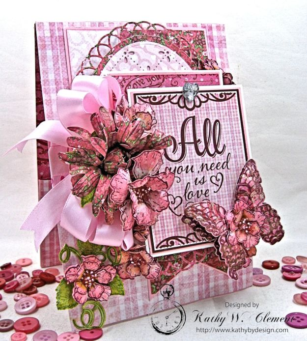 All You Need is Love Valentine and Tag Heartfelt Love by Kathy Clement Product by Heartfelt Creations Photo 3