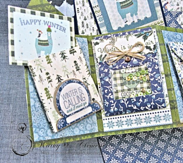 Cold Hands Warm Heart Twist and Pop Up Card Tutorial Cold Hands by Kathy Clement Product by Tammy Tutterow Designs Photo 5