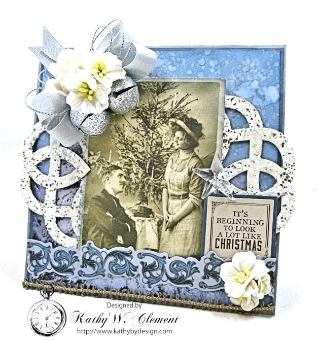 Shabby Chic Christmas Pop Up Gift Card Holder Frosted by Kathy Clement Product by Kaisercraft Photo 1
