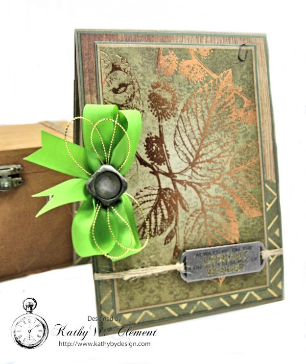 Nature Themed Masculine Card with Ribbon by Kathy Clement for Really Reasonable Ribbon Photo 2